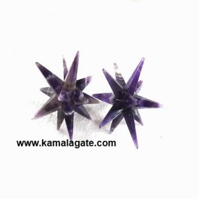 12 Points Amethyst Healing Star