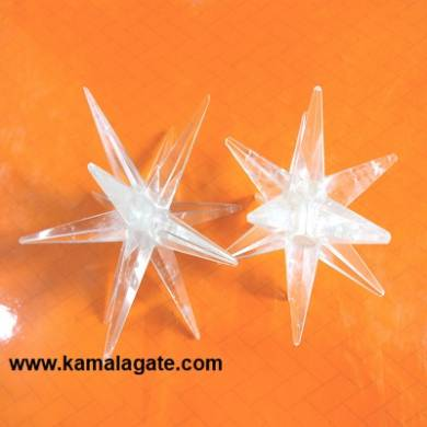 12 Points Crystal Quartz Healing Star