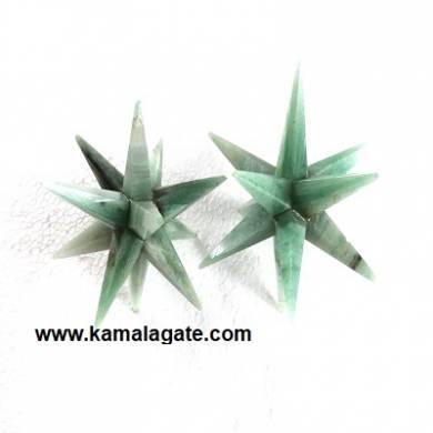 12 Points Green Aventurine Healing Stars