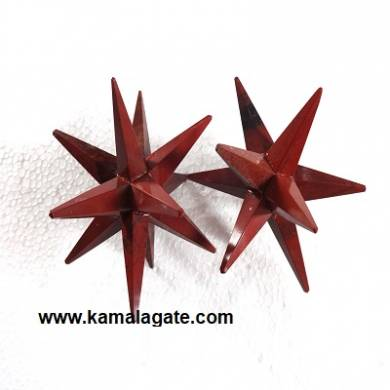 12 Points Red Jasper Healing Stars