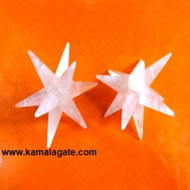 12 Points Rose Quartz Healing Stars