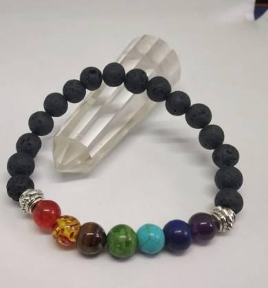 Seven Chakra Lava Bracelets