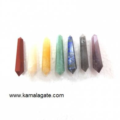 7 Chakra Double Point Terminated Pencile
