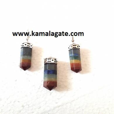 7 Chakra Gemstone Pencil  Necklace Sets