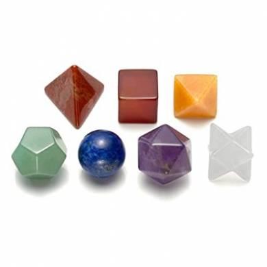 Seven Chakra Gemstone Geometry 7pcs Chakra Healing Set