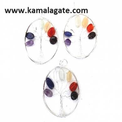 7 Chakra Tree Of Life Pendants