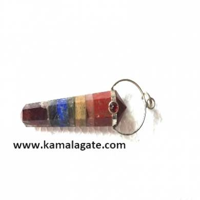 7 chakra bonded double point pencil pendants