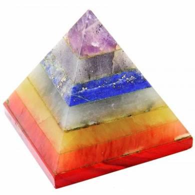 Seven Chakra Bonded Pyramid