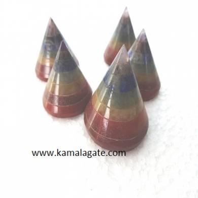 7 chakra bonded Conical Pyramid