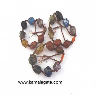 7 chakra Tumble Stone Bracelets