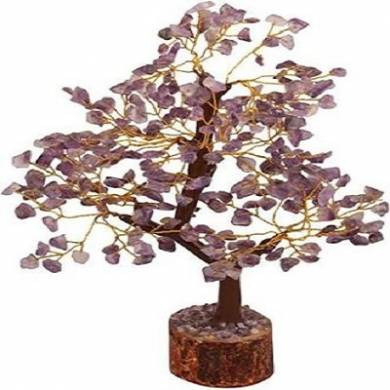 Amethyst 300 Chips Tree with Artificial Wooden Roots