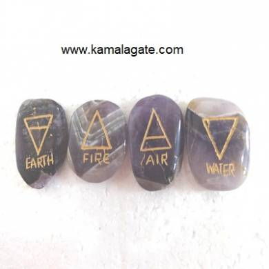 Amethyst Engraved Four Elements sets
