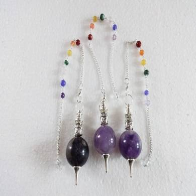 Amethyst Ball Pendulum with Buddha & Chakra Chain