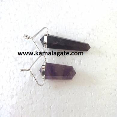 Amethyst Double Point Pencil Pendent