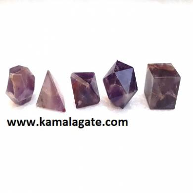 Amethyst Five Pieces Geometry Sets