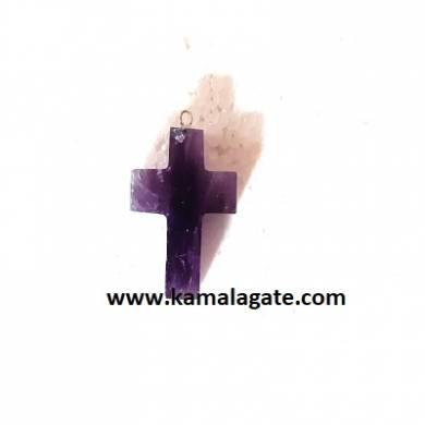 Amethyst Gemstone Cross Pendant