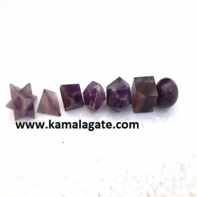 Amethyst Seven Pieces Geometry Sets