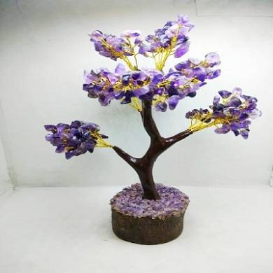 Amethyst Chips 300 beaded Tree With Artificial Wooden Roots