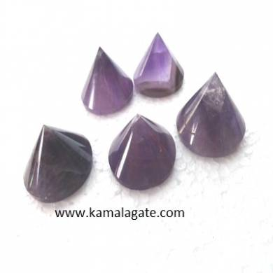 Amethyst Conical Pyramid  [A.A.A QUALITY}