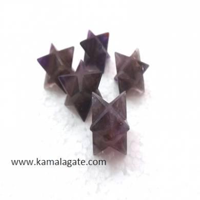 Amethyst Merkaba stars