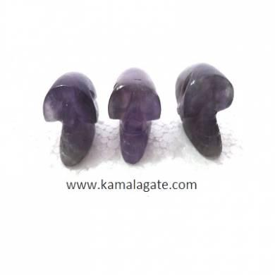 Amethyst skulls