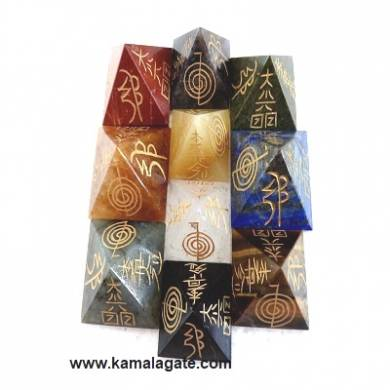 Assorted Engraved Reiki Pyramid