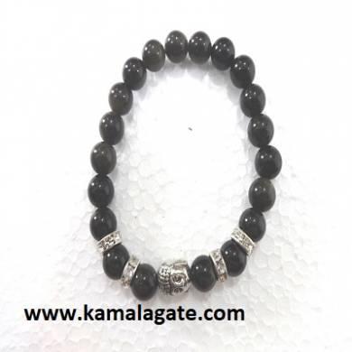Bhuddha Black Jasper Chakra Bracelets
