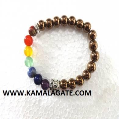 Bhuddha Pyarite Chakra Bracelets