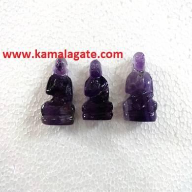 Bhuddha Sculpture Amethyst Gemstone