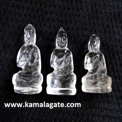 Bhuddha Sculpture crystal quartz Gemstone