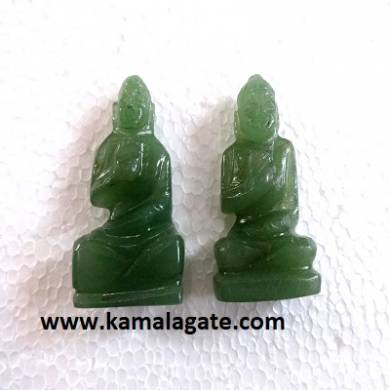 Bhuddha Sculpture Green Aventurine Gemstone
