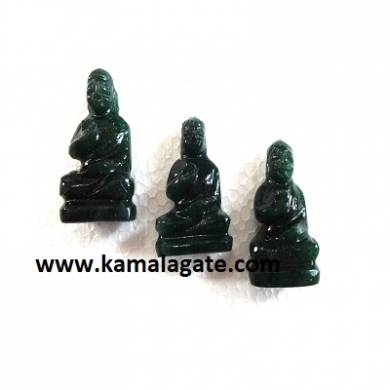 Bhuddha Sculpture Mica Agate Gemstone