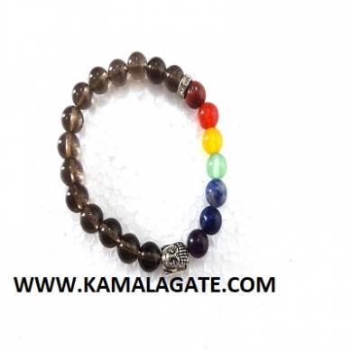 Bhuddha Smoky Chakra Bracelets