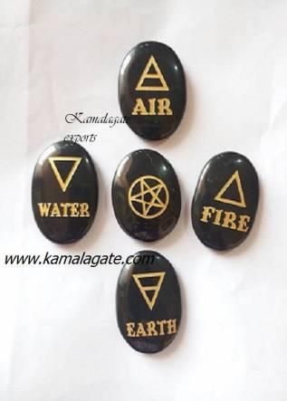 Black Agate 5 Element Symbol set