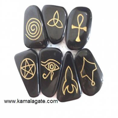 Black Agate Wiccan Sets