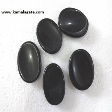 Black Agate Worry Stones