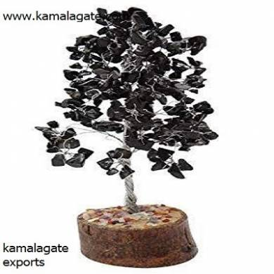 Black Onyx 300 Chips Tree with Thick Root