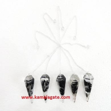 Black Tourmaline Orgone Pendulum With Chain