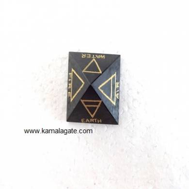 Black Tourmoline Pyramid 4 Element