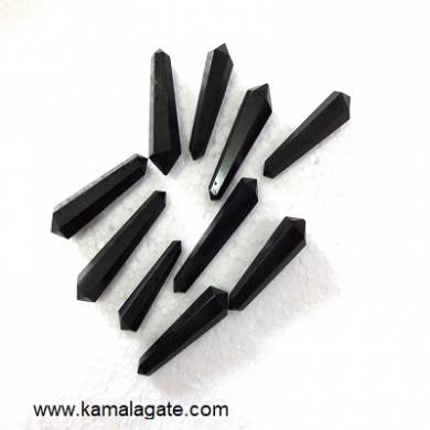 Black Turmoline Double Point Terminated Pencile