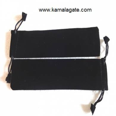 Black Velvet Stick Pouch