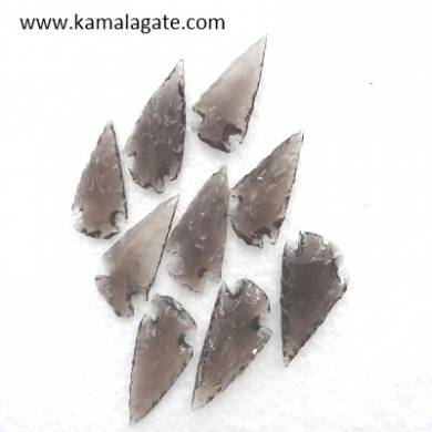 Black Obsidean Gemstone Arrowheads 1.5 inch