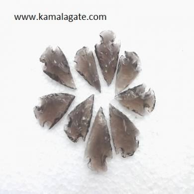 Black Obsidean Gemstone  Arrowheads 1 inch