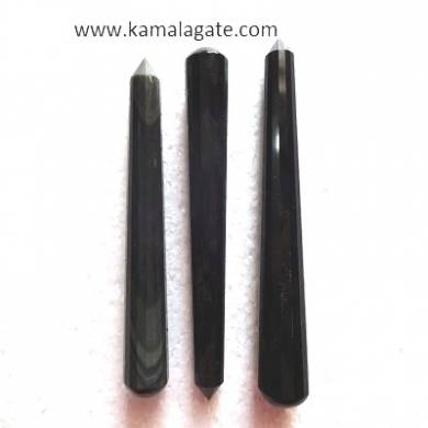 Black obsidean Faceted Massage Wands