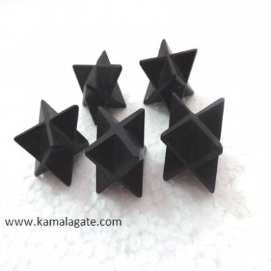 Black Turmoline merkaba Star
