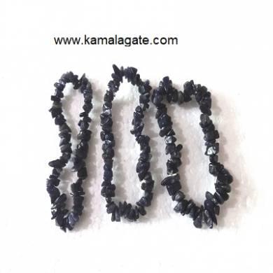 Black Turmoline Chips Bracelets