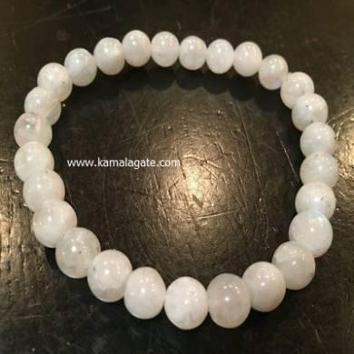 Blue Moonstone 8mm Beads Bracelet