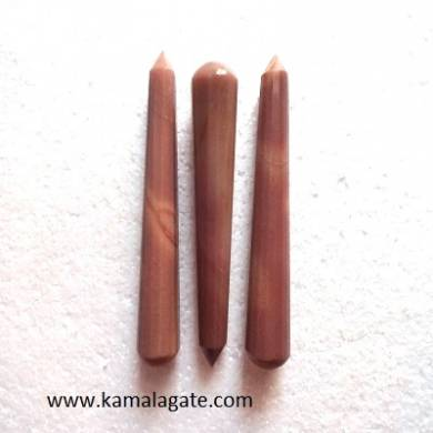 Brown Jasper Faceted Massage Wands