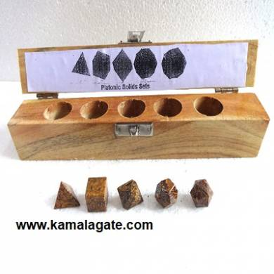Calligraphy Five Pieces Geometry Sets With Wooden Box