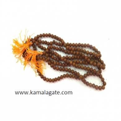 Sandalwood 6mm Gemstone Beads Jap Mala